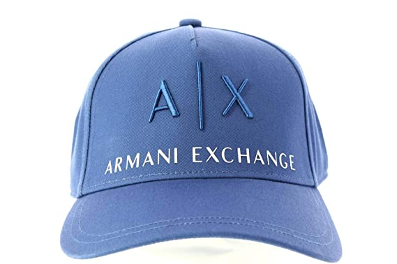 Armani Exchange Gorro de Hombre con Visera Tejido Azul Claro ...