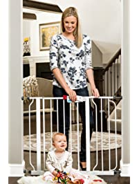 Regalo Easy Step 38.5-Inch Extra Wide Walk Thru Baby Gate, Bonus Kit, Includes 6-Inch Extension Kit, 4 Pack Pressure Mount Kit and 4 Pack Wall Cups and Mounting Kit