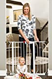 """Regalo Easy Step Walk Thru Gate, White, Fits Spaces between 29"""" to 39"""" Wide"""