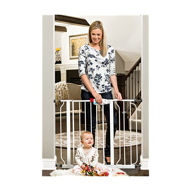 Regalo Easy Step Walk Thru Gate, White, Fits S...