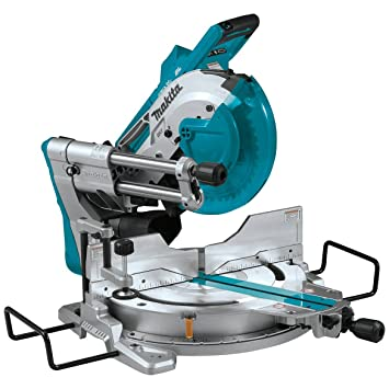 Makita XSL04ZU 18V x2 LXT Lithium-Ion (36V) Brushless Cordless 10 Dual-Bevel Sliding Compound Miter Saw with Aws & Laser, TOOL Only