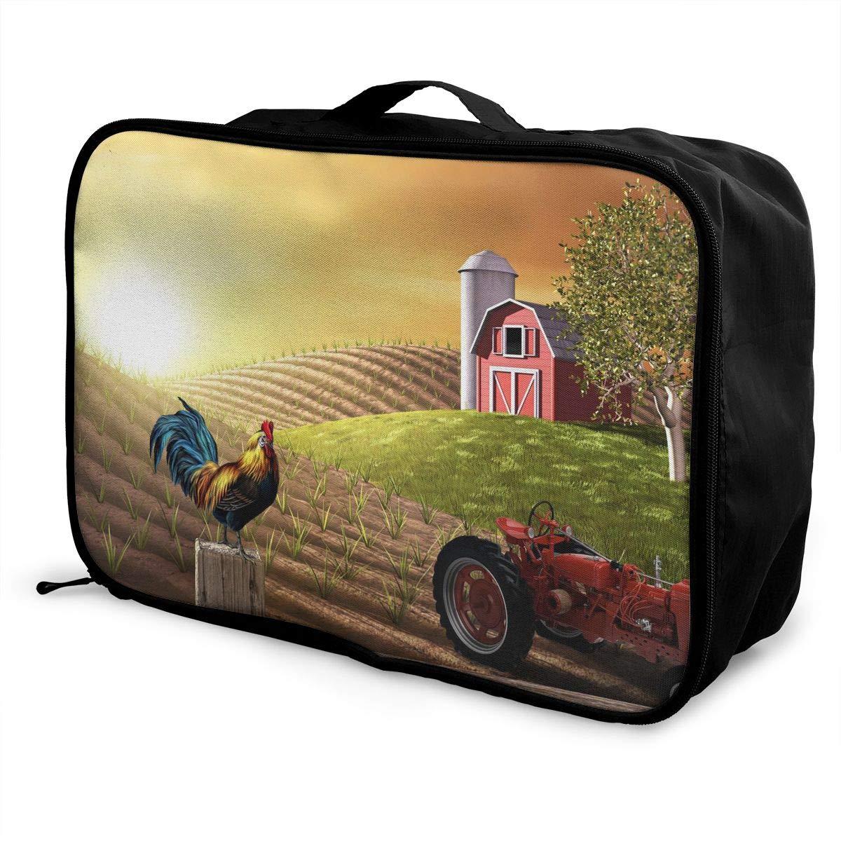 Travel Luggage Duffle Bag Lightweight Portable Handbag Morning Of Farm Large Capacity Waterproof Foldable Storage Tote