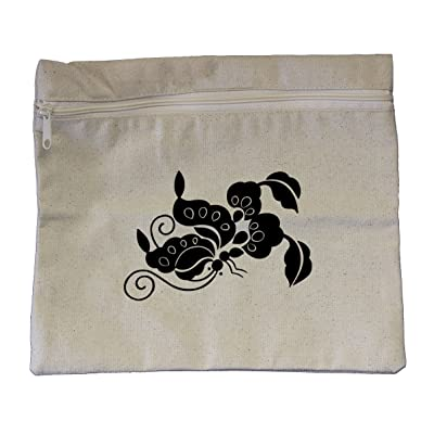 """Canvas Pouch Zipper Tote Bag 12""""X10"""" Butterfly Style 77 By Style In Print"""