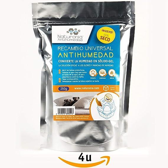 Recambios Antihumedad Bolsa 250gr para Armarios Habitación Cajones Ropa Evita Olor Humedades Antimoho - Gel no Acumula líquido. (4): Amazon.es: Hogar