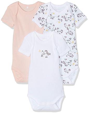 f1505aa1e5665 Name It Grenouillère Bébé Fille (Lot de 3)  Amazon.fr  Vêtements et  accessoires