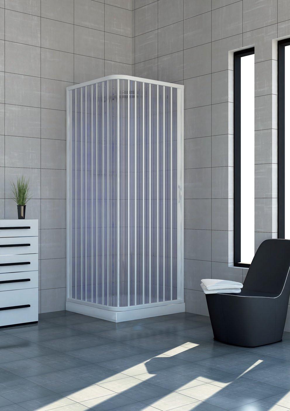 Cabina de ducha de PVC extensible con dos lados dos puertas lado 90/100: Amazon.es: Hogar