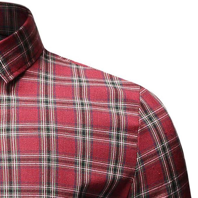 Linkay - Camisa de Manga Corta para Hombre, de Manga Corta, de ...