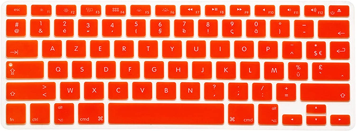 Film Pour Clavier Us Version French Keyboard Stickers for Retina Air Pro 13 15 17 Inch Gradient Euro Layout Silicone Keyboard Cover for MacBook 13-14