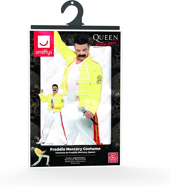 Smiffys Disfraz de Freddie Mercury para Hombre, Reina Amarilla ...