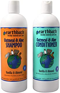 product image for Earthbath Oatmeal & Aloe Pet Grooming Bundle - Vanilla & Almond Soap-Free Shampoo and Conditioner - Itchy & Dry Skin Relief, Helps Detangle, Aloe Vera, Vitamin E, Good for Dogs & Cats - 16 fl. oz Each