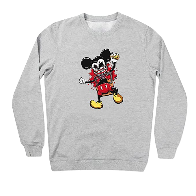 Mickey Mouse In Trap Blood Fight Forever Gris Sudadera Unisex X Large: Amazon.es: Ropa y accesorios