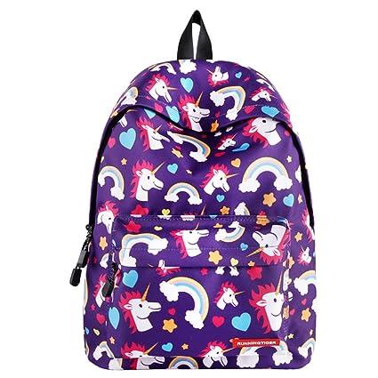 IvyH Mochila Escolar Unicornio,Bolsas de Escuela para niñas Niños Mochila para Estudiantes de Escuela