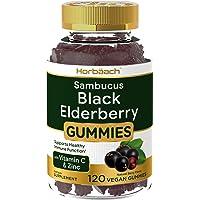 Sambucus Black Elderberry Gummies | 120 Count | with Zinc and Vitamin C | Vegan, Non-GMO, Gluten Free Extract for Adults…