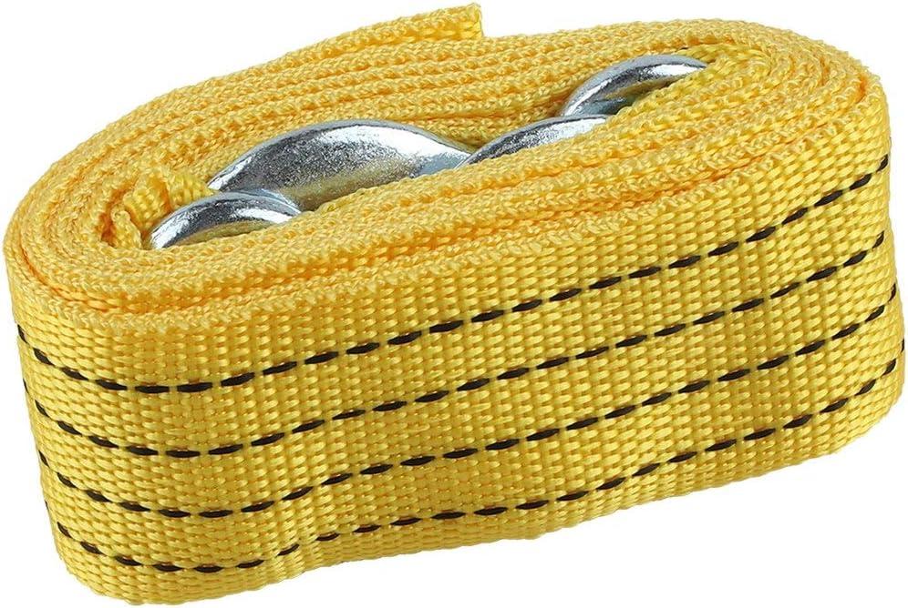 Tree-on-Life Utile 3 m/ètres Voiture v/éhicule Bateau Sangle de remorquage Corde de remorquage c/âble cha/îne avec Crochets Accessoires Essentiels