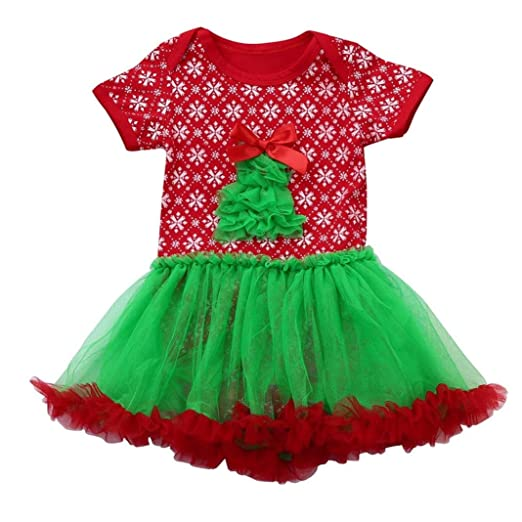 girl christmas dressallywit christmas trees toddler newborn baby girls tutu dress rompers jumpsuit outfits