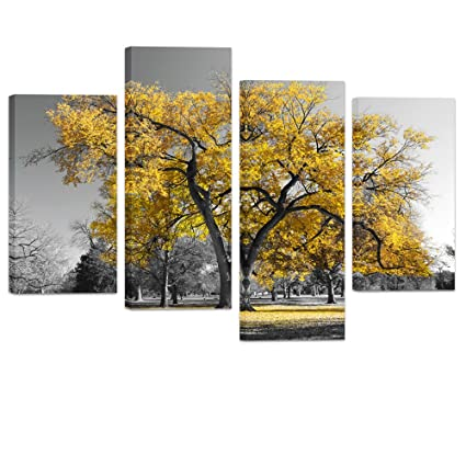 Amazon.com: Visual Art Decor Modern Black and White Canvas Wall Art ...