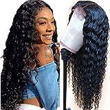 Fuduete Deep Wave 4x1 T Part Lace Front Wigs Human Hair Brazilian Deep Curly Human Hair Wigs for Black Women 150% Density Pre