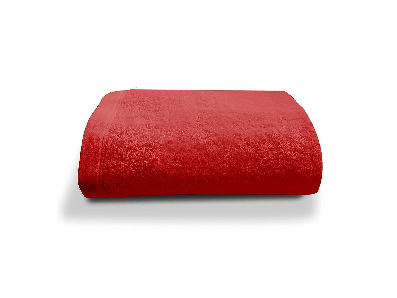Pr/éface Drap de Bain 70x140cm Rouge 100/% Coton peign/é Haut de Gamme
