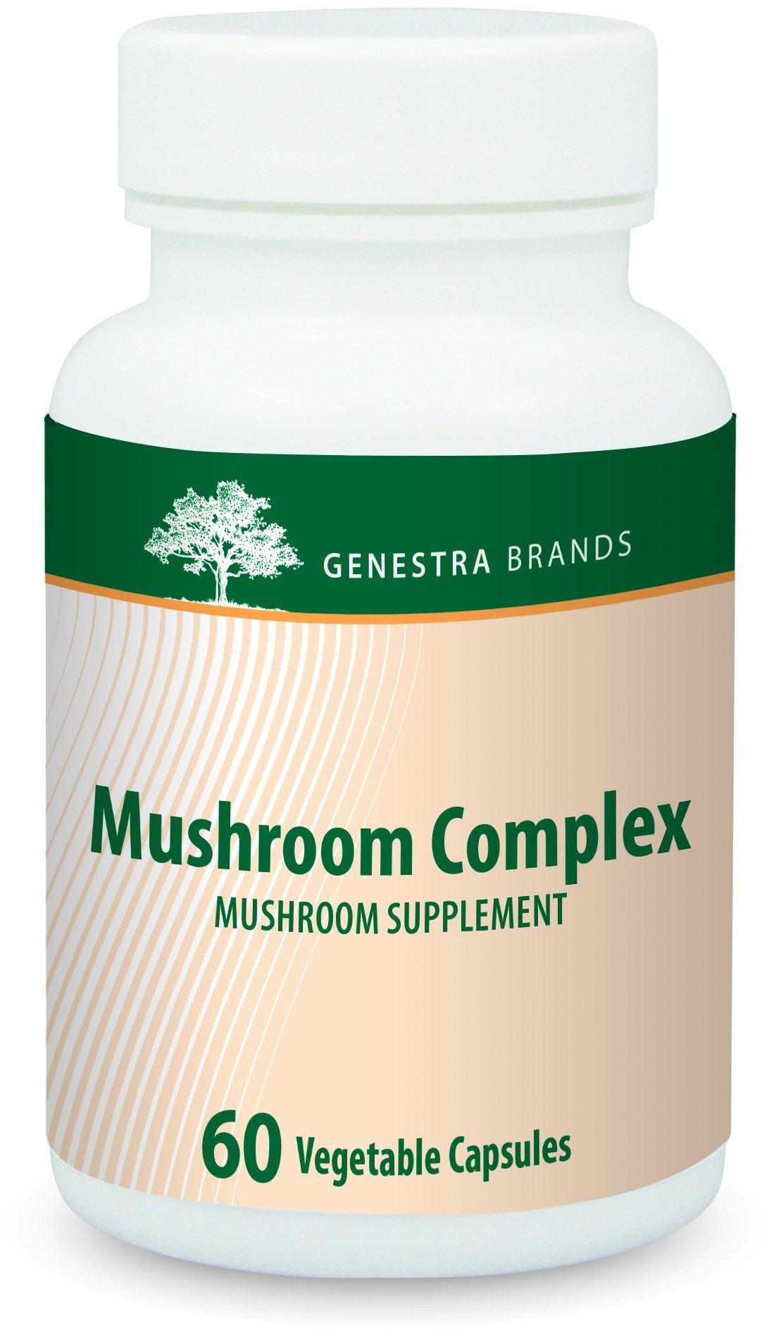 Genestra Brands - Mushroom Complex - Reishi, Shiitake and Maitake Mushroom Combination to Support Immune System Health - 60 Capsules