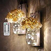 BDHBB Juego de Dos Apliques de iluminación rústicos
