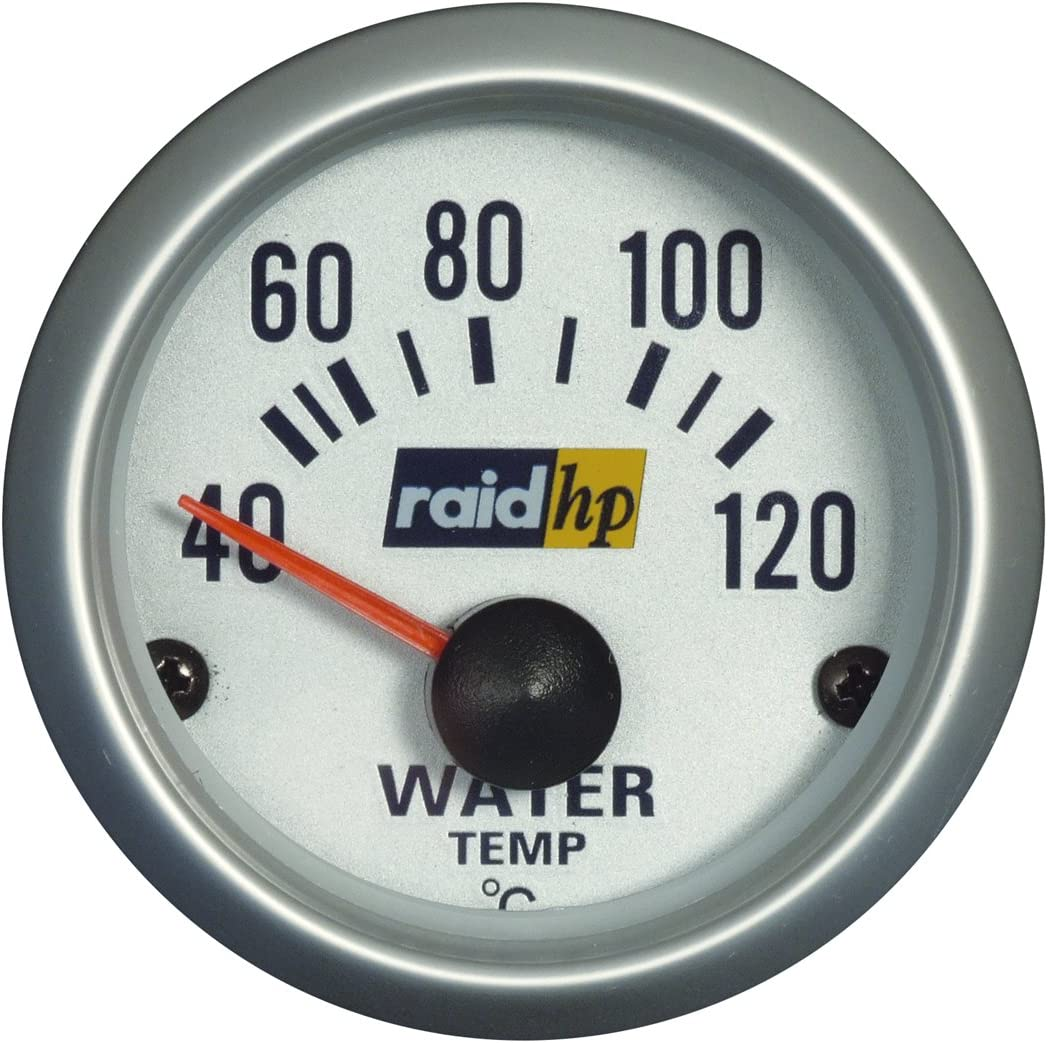 Raid HP 660220/affichage de la temp/érature de leau Instrument suppl/émentaire Silver Line