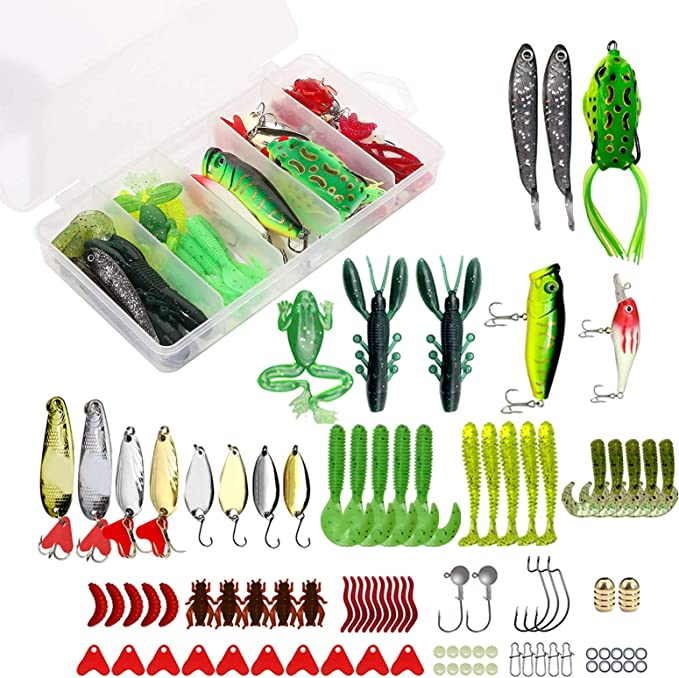 42pcs Lot Colorful Trout Spoon Metal Fishing Lures Spinner Baits Bass Tackle UK