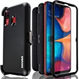 Samsung Galaxy A20 / A30 / A50 Case, COVRWARE [Tri Series] with Built-in [Screen Protector] Heavy Duty Full-Body Triple Layers Protective Armor Holster Case, Black