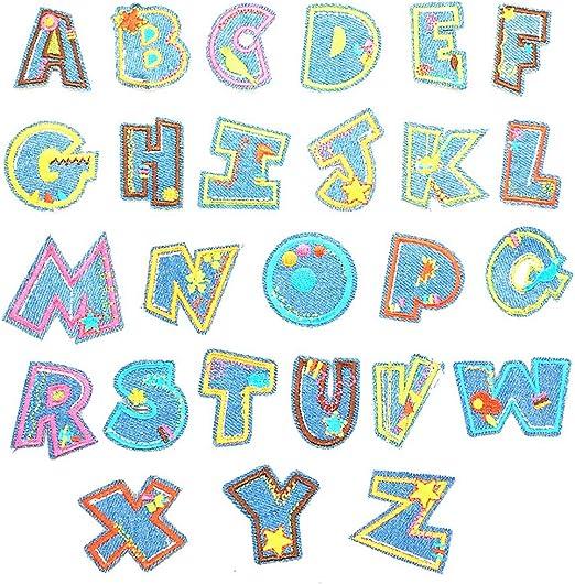 R-WEICHONG Zuschuss para Coser de Letras, 26 Coloridas Pegatinas ...