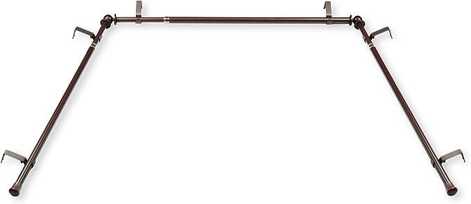 Cocoa Rod Desyne BOT63-487D 5//8 Blackout Double Curtain Rod 48-84 inch