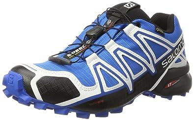 Salomon Speedcross 4 GTX Damen Trailrunning-Schuhe, Schwarz (Black/Black/Metallic Bubble Blue), 36 EU