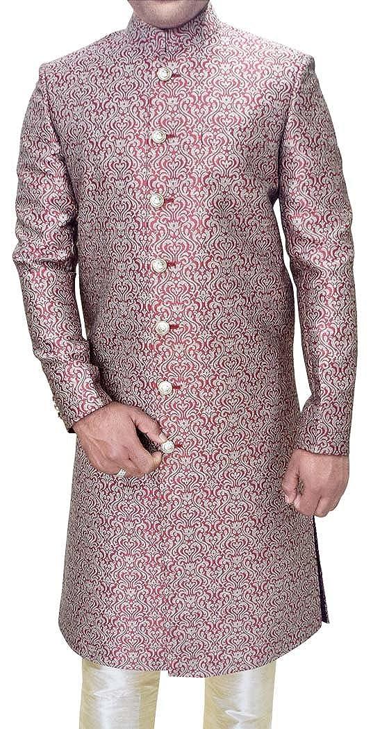 INMONARCH Mens/Sherwani Red Wedding Sherwani Traditional Indo Western/Outfit SH560