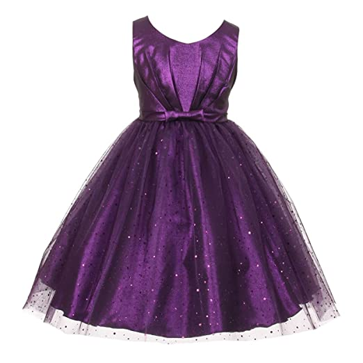 2a2b5ca03fc Amazon.com: Kids Dream Little Girls Purple Bodice Bow Sparkle Tulle ...