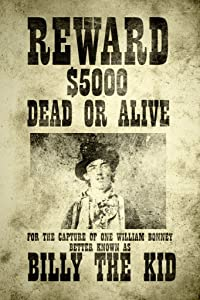 Gotham City Online Billy The Kid Wanted Vintage Style Cool Wall Decor Art Print Poster 12x18