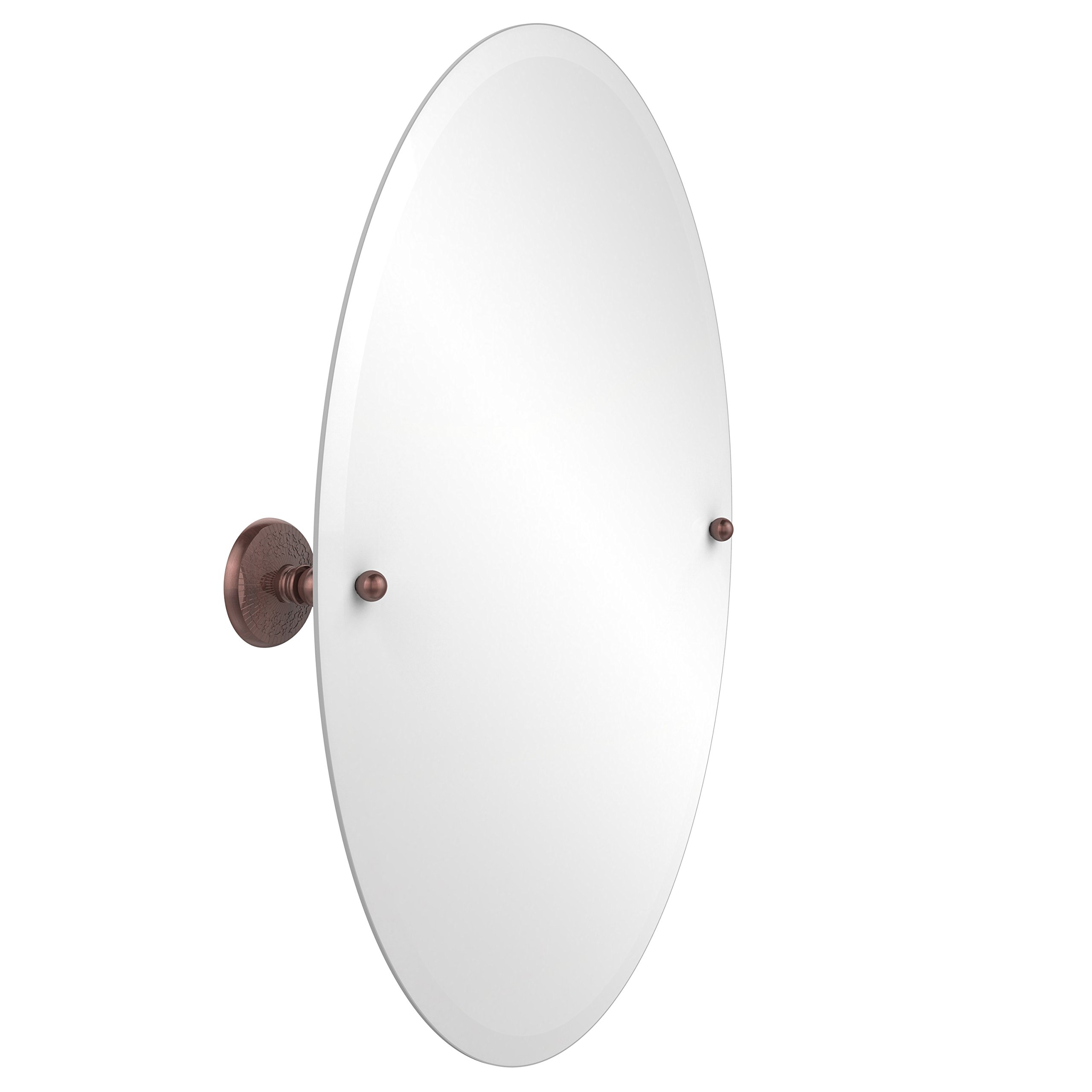 Allied Brass PMC-91-CA  29-Inch X 21-Inch Oval Tilt Mirror, Antique Copper by Allied Brass