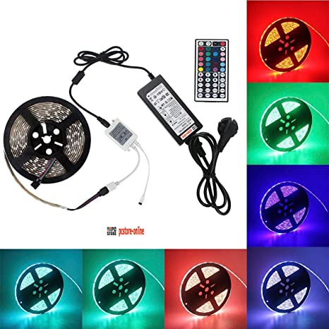 50a21ee7fcc pcstore-online tira LED RGB 5 m 300 led 5050 smd impermeable IP65 con 44