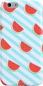 VIVIBIN iPhone 6 Plus Case,iPhone 6s Plus Case,Cute Watermelon Red Blue for Women Girls Clear Bumper Protective Soft Silicone Rubber Matte TPU Cover Slim Fit Phone Case for iPhone 6 Plus/6s Plus