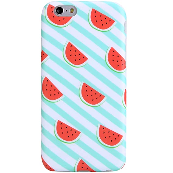various colors f5c37 77707 iPhone 6 Case, iPhone 6s Case,VIVIBIN Cute Watermelon for Women Girls Clear  Bumper Best Protective Soft Silicone Rubber Glossy TPU Cover Slim Fit Best  ...