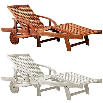 chaise longue tami sun en bois dacacia 200cm transat bain de soleil - Transat En Bois