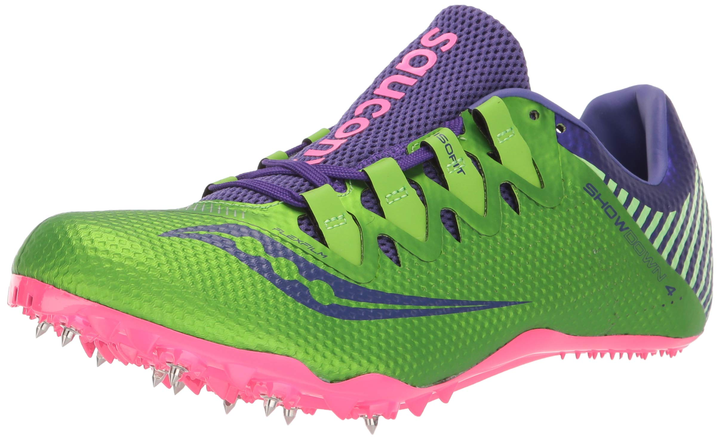 Saucony Showdown 4 Women 5 Slime | Purple by Saucony (Image #1)