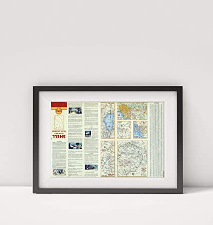 Amazon.com: 1956 Map of |Various Regions and Cities in The ...