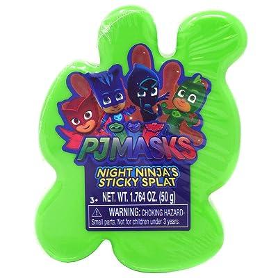 PJ Masks Sticky Splat Putty - Green: Toys & Games