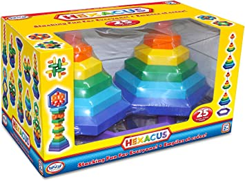 Popular Playthings Juego de apilamiento Hexacus (25 Piezas): Amazon.es: Juguetes y juegos