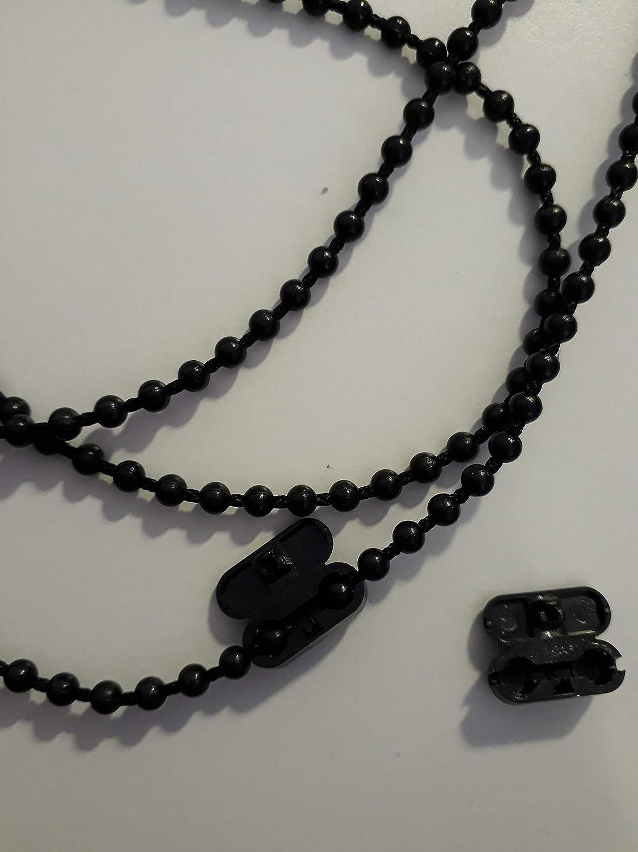 Asia Buy 10-30 pies Estor de pl/ástico # 10 Beaded Pull Control Cadena de Bola con Conectores