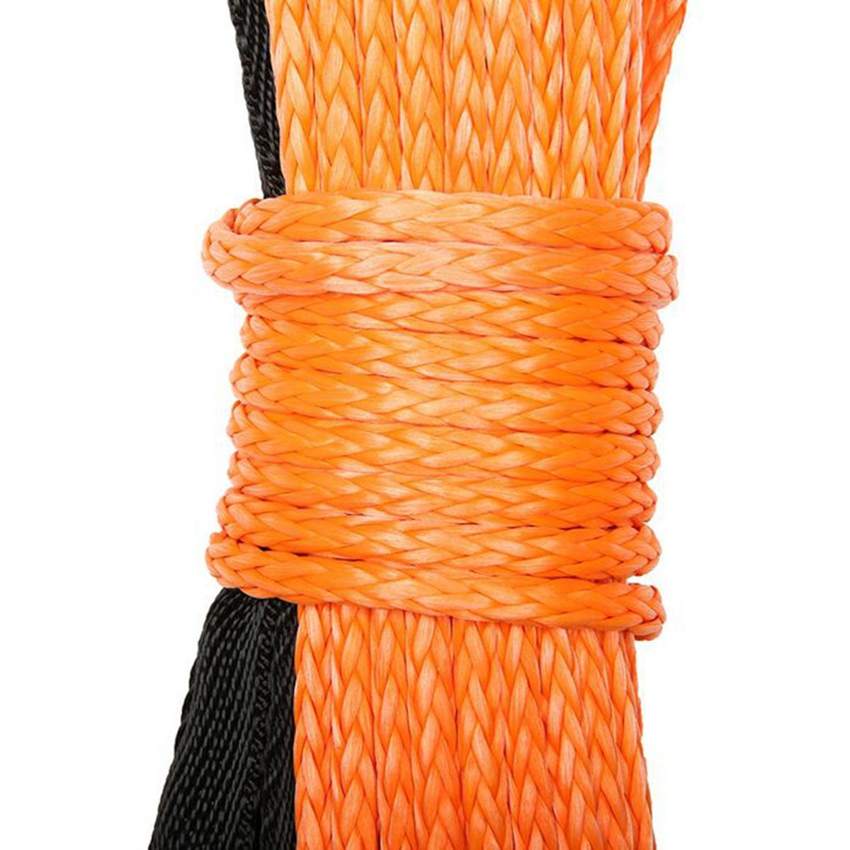 MOEBULB Car Synthetic Winch Rope Kit 5700+LBs 50'x1/4'' Winch Line Cable Sheath Winches ATV UTV SUV Truck Boat Ramsey Stainless Steel Thimble (Orange) by MOEBULB (Image #8)