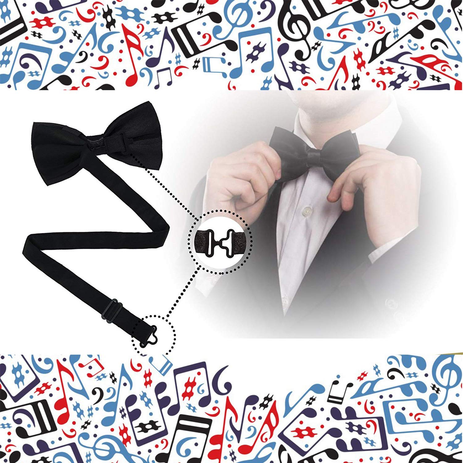 Handmade Formal Pre-Tied Tuxedo Bow Tie for Men-Funny Narwhal Dab