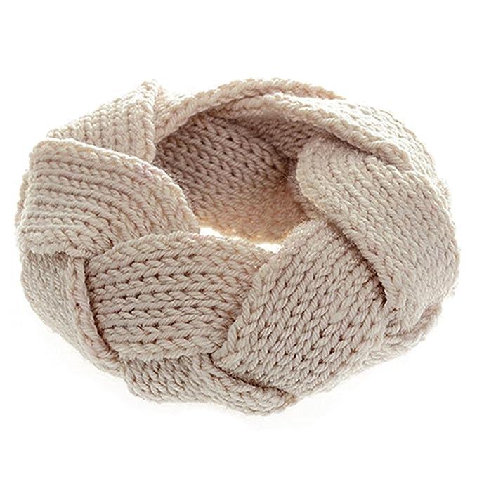 Fashion Twist Crochet Strick Stirnband Kopfband Haarband Beige