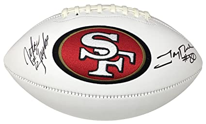 Image Unavailable. Image not available for. Color  Jerry Rice John Taylor  Signed San Francisco 49ers Logo Football JSA ITP 27988cdf9