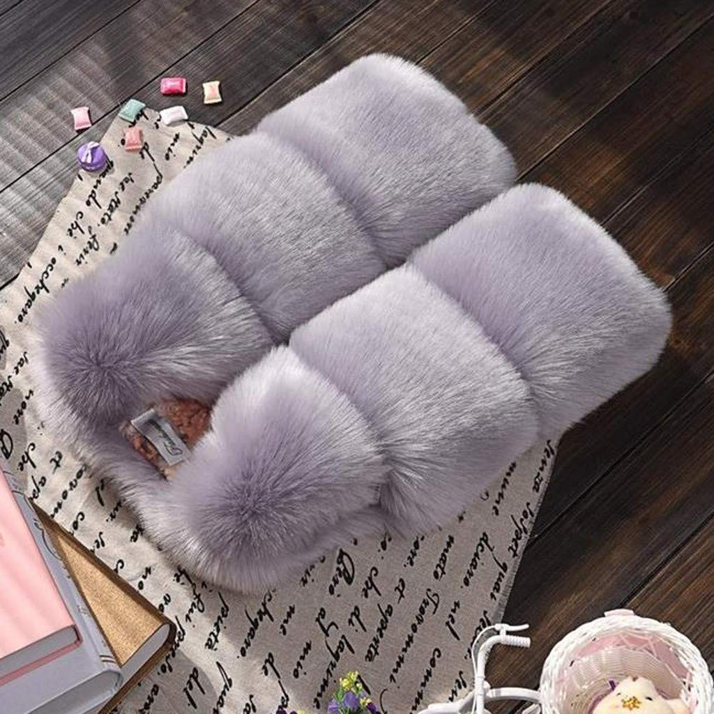 Amaone Girls Boys Gilet Winter Baby Cute Faux Fur Jackets Infant Thick Warm Soft Waistcoat Toddler Clothes Vests Coat for 18Months-7Years Old