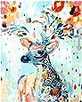 لوحة زيتية للتلوين حسب الرقم بتصميم غزال متعدد الالوان