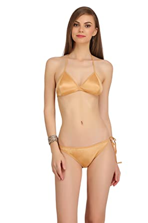 0342457552 Fashion Comfortz Women s Girls Satin Nylon Spandex Sexy Bra Sexy Panty